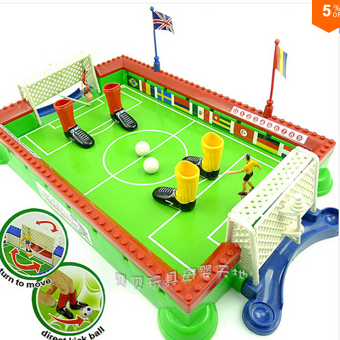 Candice guo plastic toy finger football family soccer sport board little foosball game Early Development children baby gift 1set