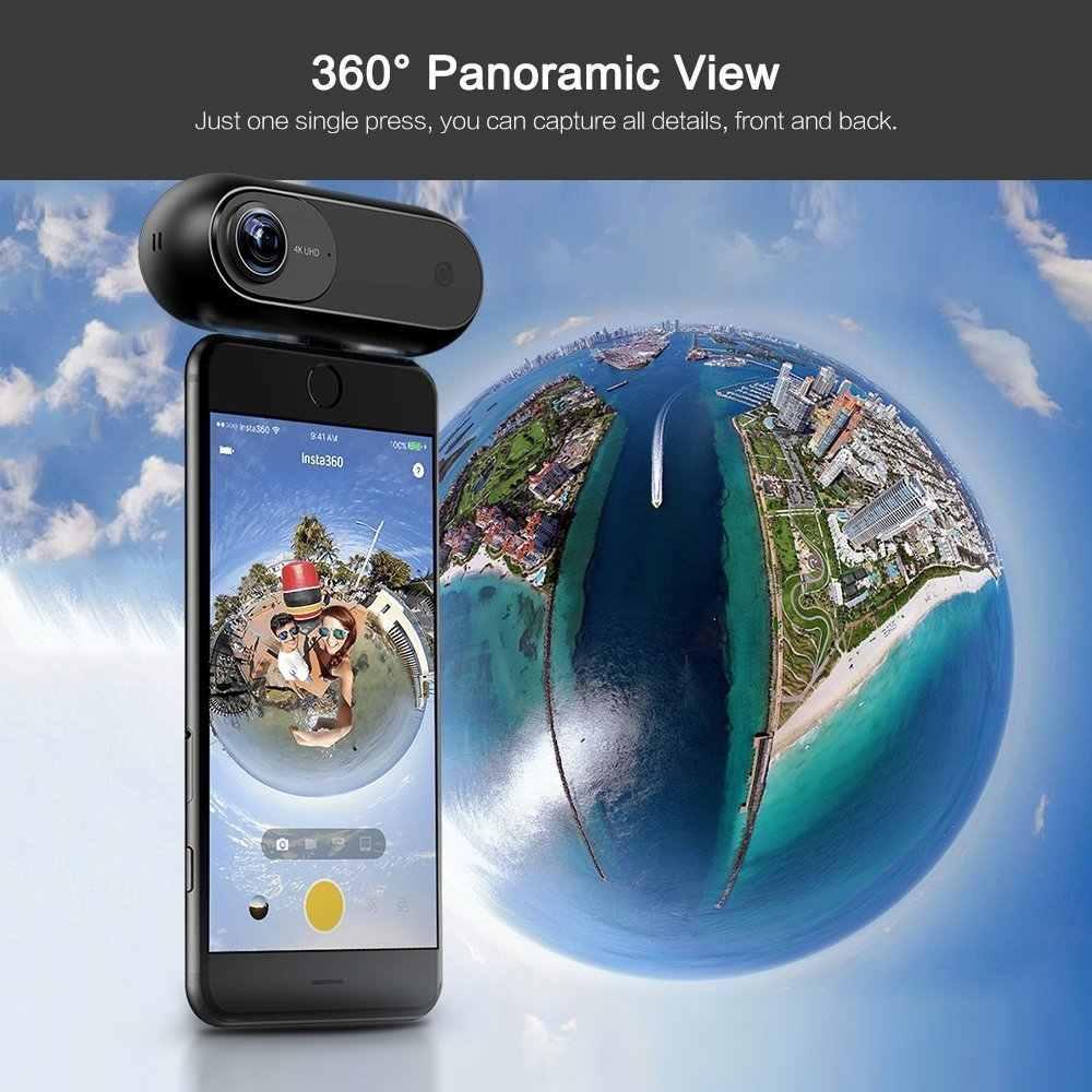 Insta360 ONE 360 камера, Спортивная и экшн-видеокамера, VR камера, 24MP (7 K) фотографии, 4 K видео для iPhone и Android телефона