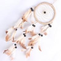 Circle Pattern Dream Catcher Dreamcatcher Net Car Home Decoration Bead Feathers Ornament Gift Hot Sale