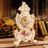 Стиль древней красоты французской керамические часы немой спальня украшения домашнего интерьера ювелирные украшения