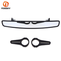 POSSBAY Motorcycle Rearview Mirror Motorbike Side Mirorrs With Clamp Mount Set Universal for Most UTV Cafe Racer Mirrors