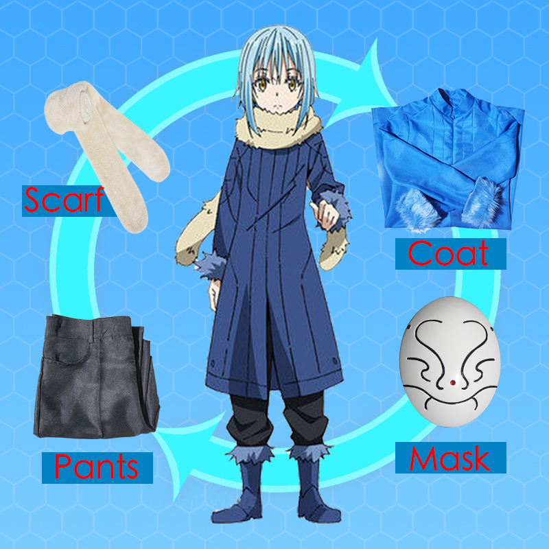 Anime That Time I Got Reincarnated As A Slime Cosplay Costumes Rimuru Tempest Cosplay Uniform Costume Halloween Party Mikami