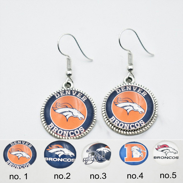 10 Pairs Gl Denver Broncos Football Fans Earrings Charm Drop 5styles For Choose