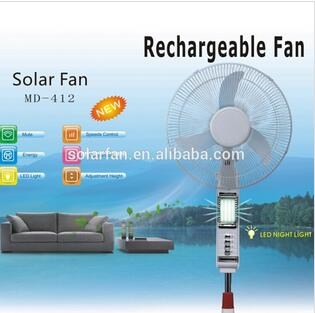 16 Inch Standing Rechargeable Fan Solar With 10w Panel And 56pcs Night Light