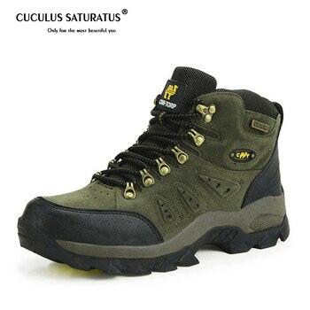 Nouveau hommes/femmes chaussures de randonnée antidérapant imperméable escalade chaussures anti-dérapant résistant à l'usure respirant randonnée bottes 1216