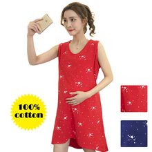 Summer Nightwear Maternity New Dress Nursing Clothes Sleepwear Thin For Pregnant Women Pajamas Cartoon Pyjama Breastfeeding