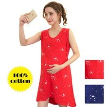 Nyári éjszakai alvás Anyasági új ruha ápolási ruhák Hálóruhák vékonyak a terhes nők számára Pizsama Rajzfilm pizsama szoptatás