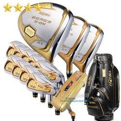 Nieuwe Compelete club set HONMA S-06 4 star golfclubs Driver Fairway Wood ijzers tas putter Graphite golfschacht Gratis verzending