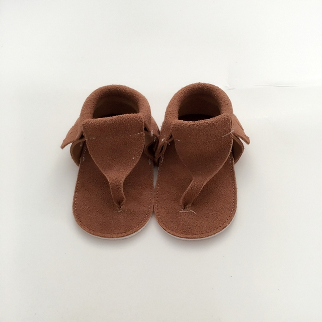 Handmade Light Tan First Walkers Genuine Leather Infant shoe