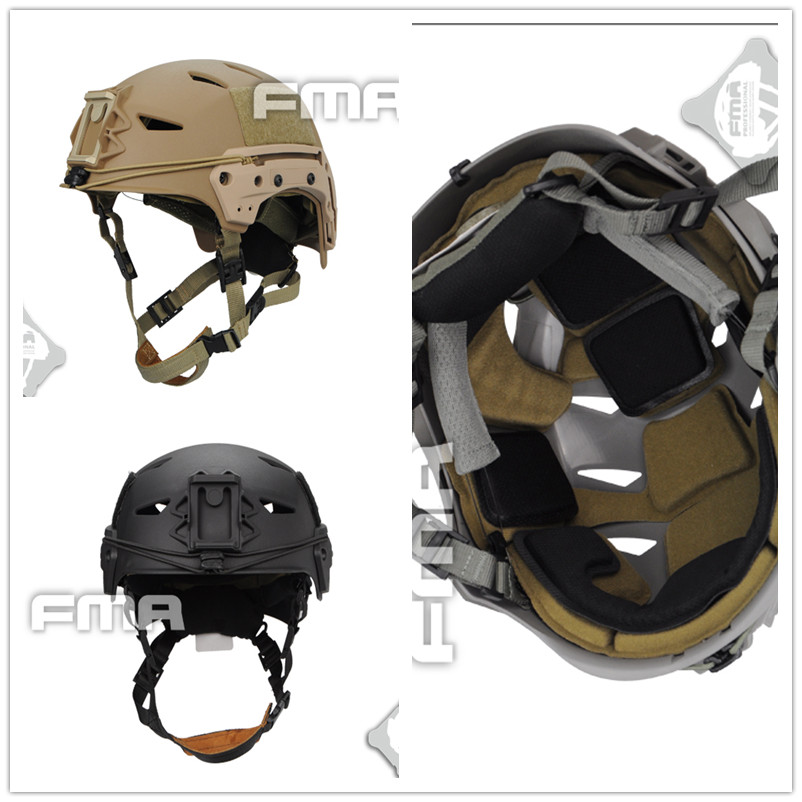 2017 NEW FMA Bump EXFIL Lite Tactical Helmet Tan black free shipping Party Masks