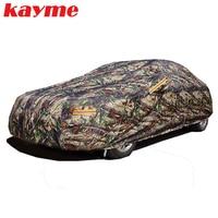 Kayme הסוואה עמיד למים רכב עטיפות חיצוני כותנה הגנה מפני שמש גשם אבק שלג מגן כיסוי עבור מכונית hatchback סדאן suv