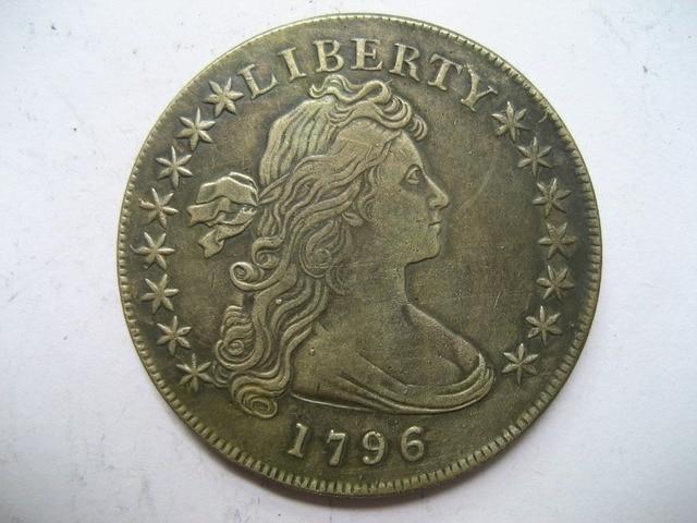 1796 Draped Bust Dollar copy koin