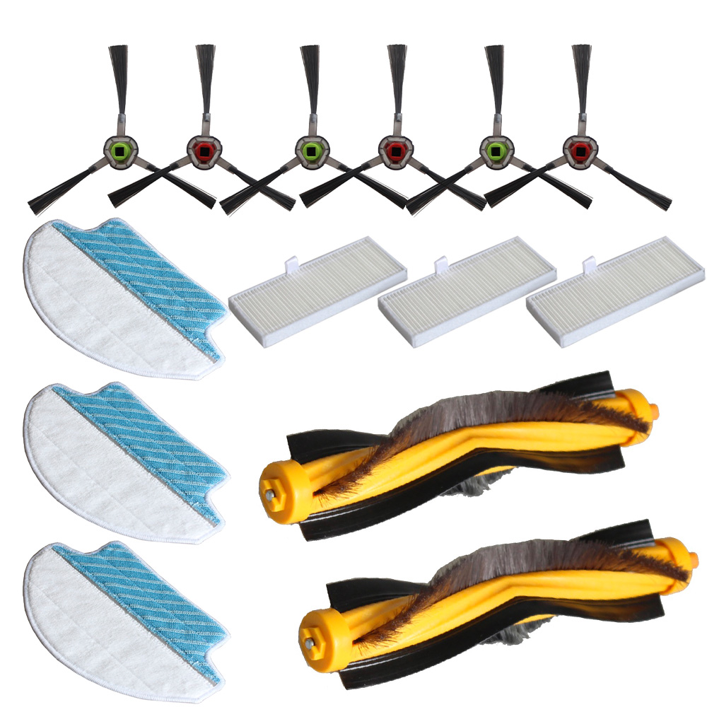 14Pcs/Set Vacuum cleaner Parts accessories Vacuum Cleaner For Ecovacs Deebot R95 R96 R97 DR95-KTA Home Garden Tool Supplies