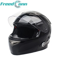 New FreedConn Motorbike Bluetooth Smart Helmet Motorcycle Full Face Half Face Built In FM Intercom Device