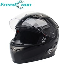 Motorbike Bluetooth Smart Helmet Motorcycle Integral Half Face Built in FM Intercom Device Support 2 Riders