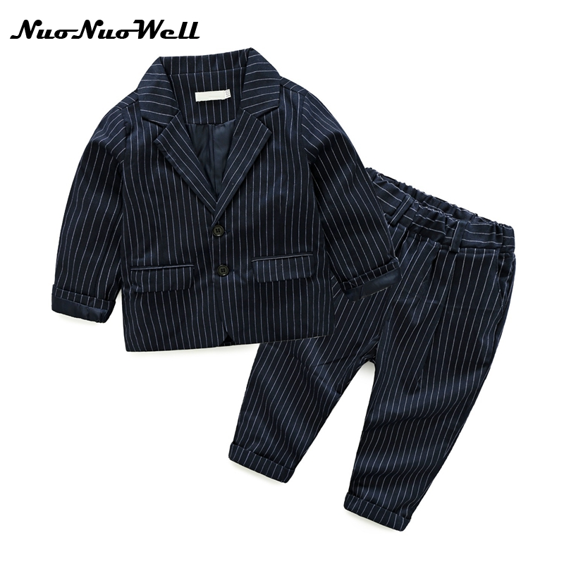 NNW 2017 3-8Y Regular Coat Baby Boys Suits For Weddings Kids Clothes For Children Clothing Sets Baby Boy 2pcs Classic Costume nnw autumn new baby boys clothes 3pcs