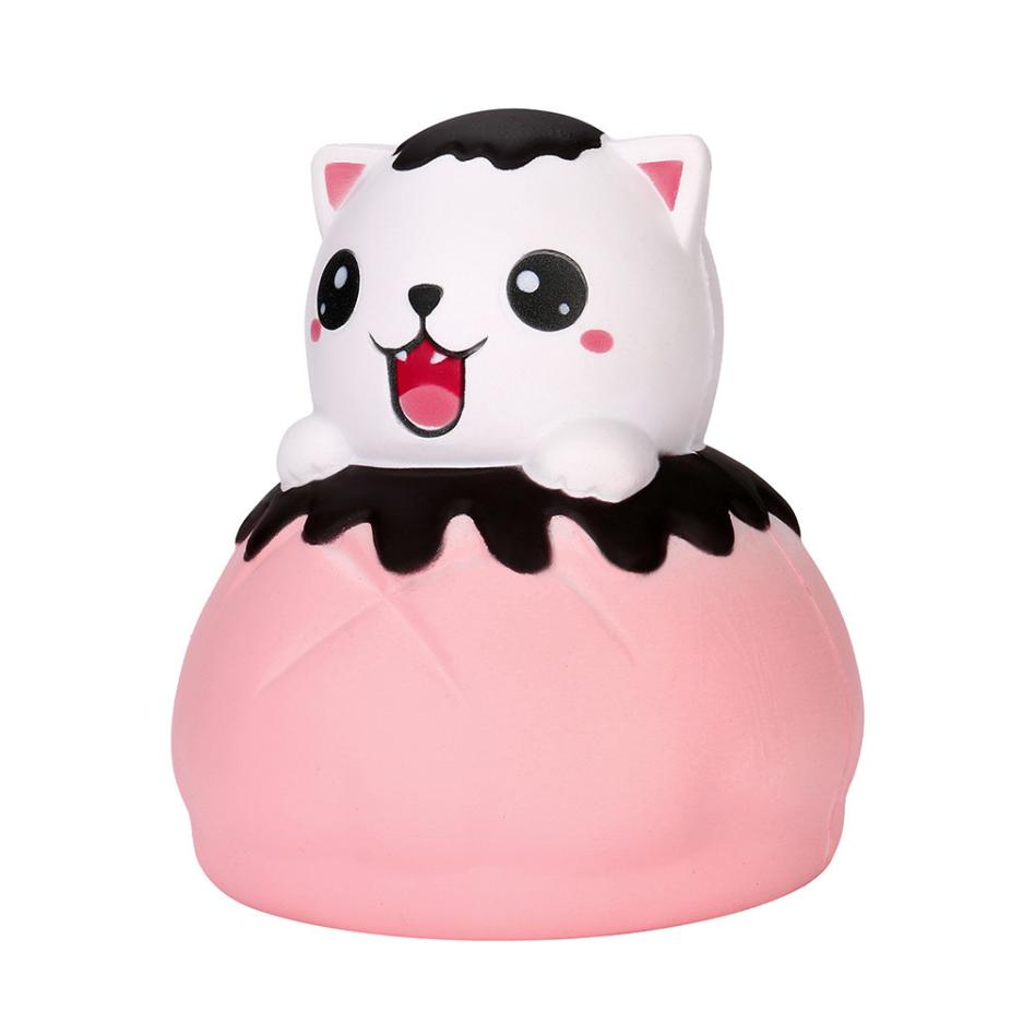 Jumbo Cat Bread Cartoon Stretchy Squeeze Toy Cream Slow Rising Simulation Kid Adult Antistress Toy squishies anti stress #15
