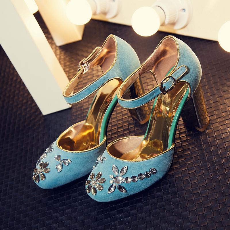 New fashion large size brand shoes round toe party wedding extreme high heel women pumps sweet sandals sexy office lady shoes 99 2017 new fashion brand spring shoes large size crystal pointed toe kid suede thick heel women pumps party sweet office lady shoe