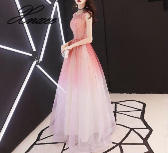 복장 여성 2019 새로운 긴 기질 숙녀 슬림 파티 연회 우아한 우아한 드레스-에서드레스부터 여성 의류 의  그룹 1