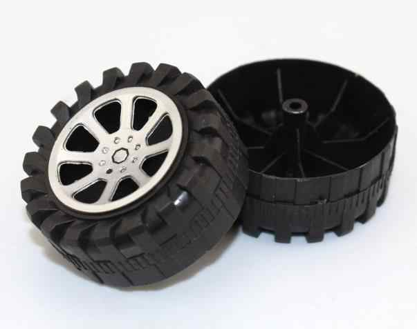4 pçs/lote 2.9*47mm Modelo Da Roda Do Veículo Pneu do Carro Do Brinquedo de Plástico DIY Tecnologia de Produção