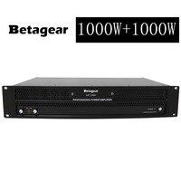 Betagear Stage Power Amplifier 1000W+1000W @8ohm /1650W*2 @ 4ohm Power amp lightweight powerful amplifier switching power