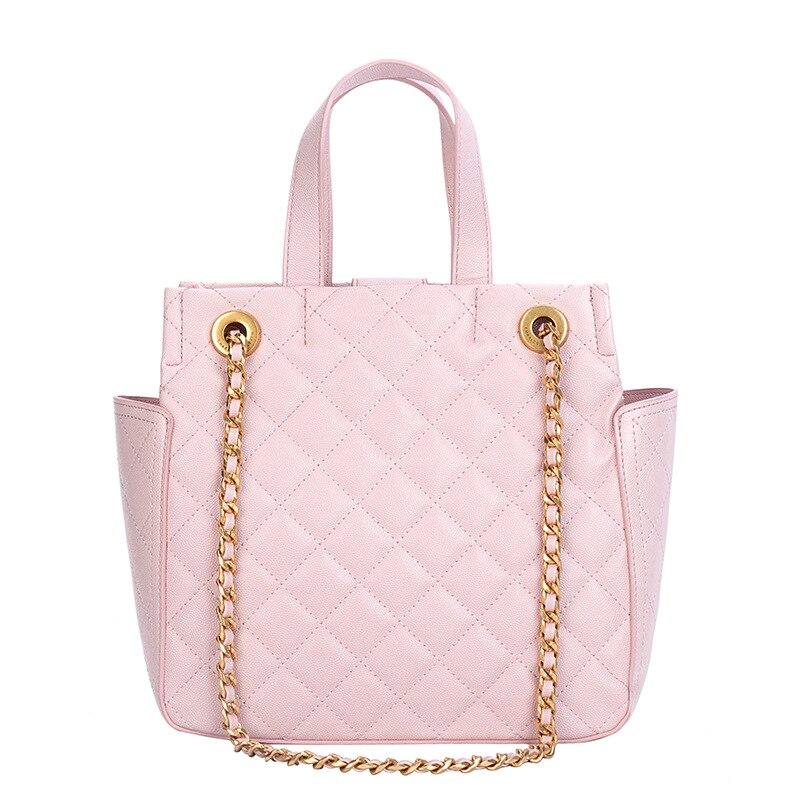 Sac à main mode femme Plaid Designer luxe sac fourre-tout dames chaîne sac à bandoulière femme noir rose treillis bandoulière sac Messenger