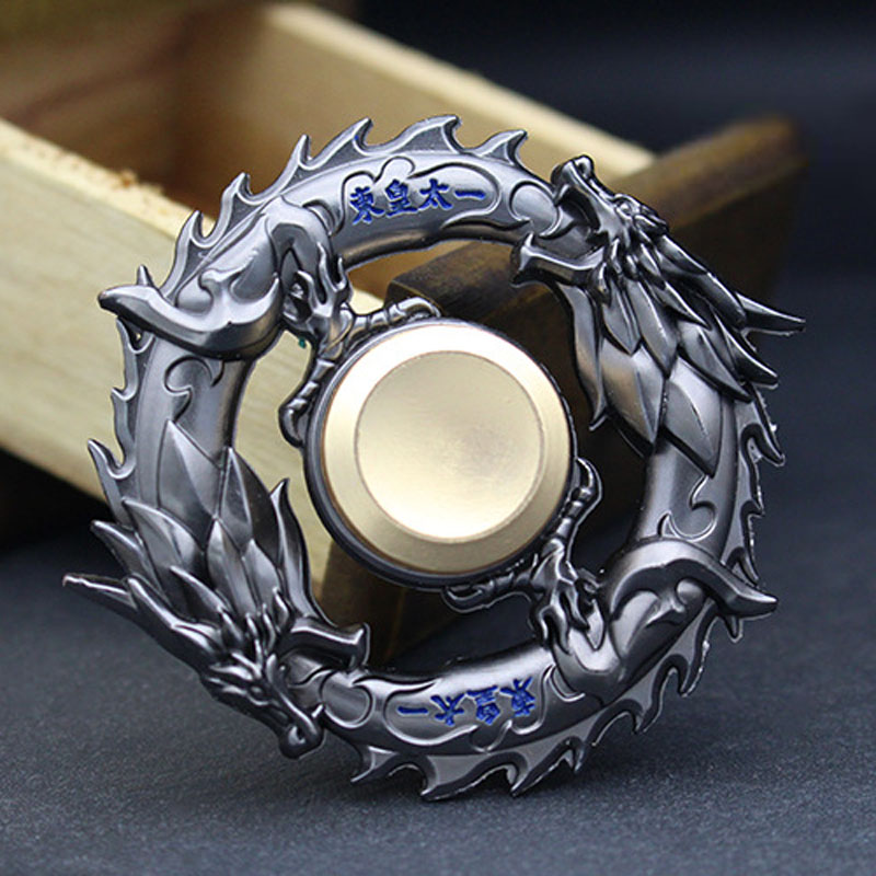 Dragon Metal Fidget Spinner Zinc Alloy Gyro Rotary EDC Hand Spinner For Autism And ADHD Focus Stress Fingertip I0124