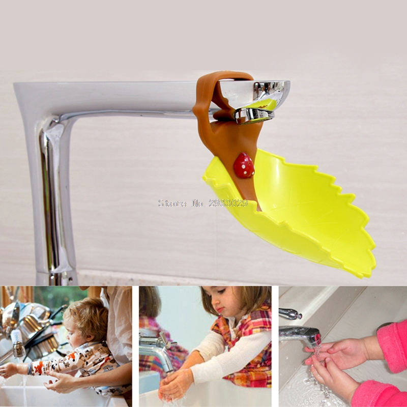 Faucet Extender Baby Kid Hand Washing Water Beatles Leaves Guiding Gutte -B116