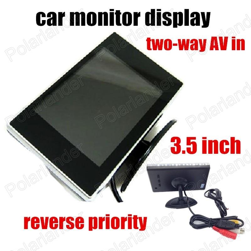 Neue Heiße verkauf Auto 3,5 zoll Tft LCD Monitor für DVD Reverse priorität zwei-way AV in auto monitor display