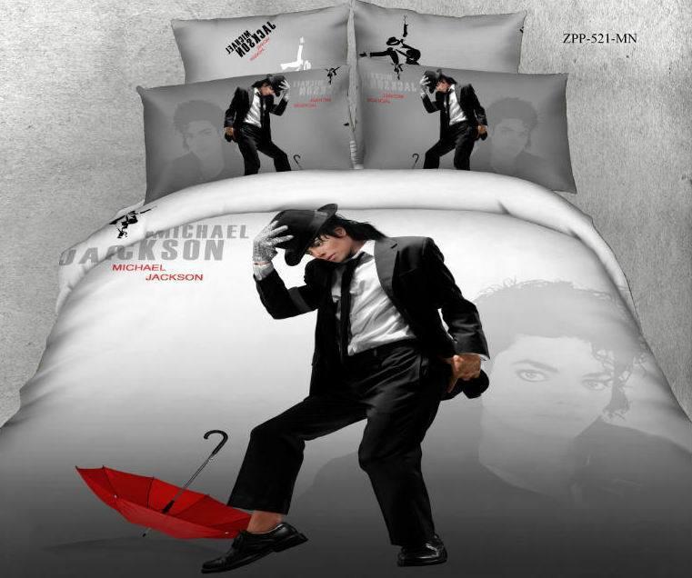 3d Michael Jackson Bedding Set Queen Size Duvet Cover