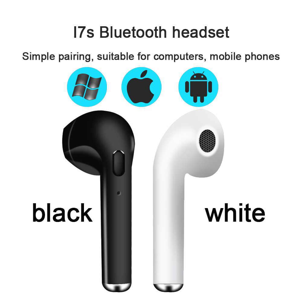 I7 i7s TWS اللاسلكية سماعة بلوتوث سماعات الأذن سماعة رأس مزودة بميكروفون ل فون sunsung xiaomi huawei lenovo htc LG TCL إلخ