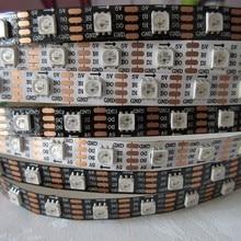 50M/lot waterproof ip67 DC 5v 60 pixel/m ws2813 led strip,black pcb full color 5050 rgb smd addressable led strip light ws2812 16 bits leds 5050 smd rgb individual addressable ring round led pixel light board dc5v white black pcb df