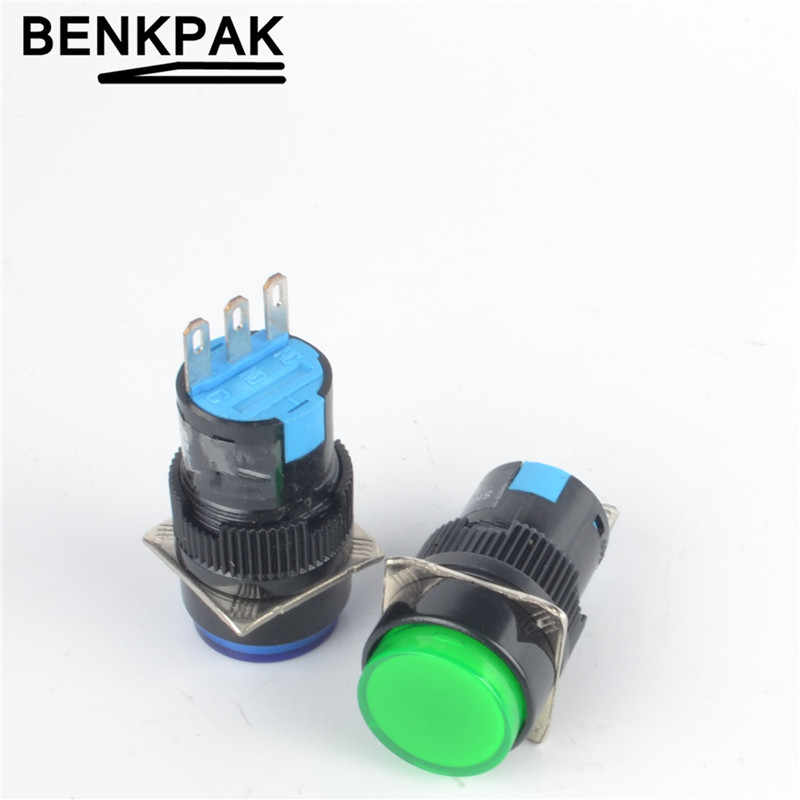 16mm momentary push button swtich selbst gesperrt 3pin