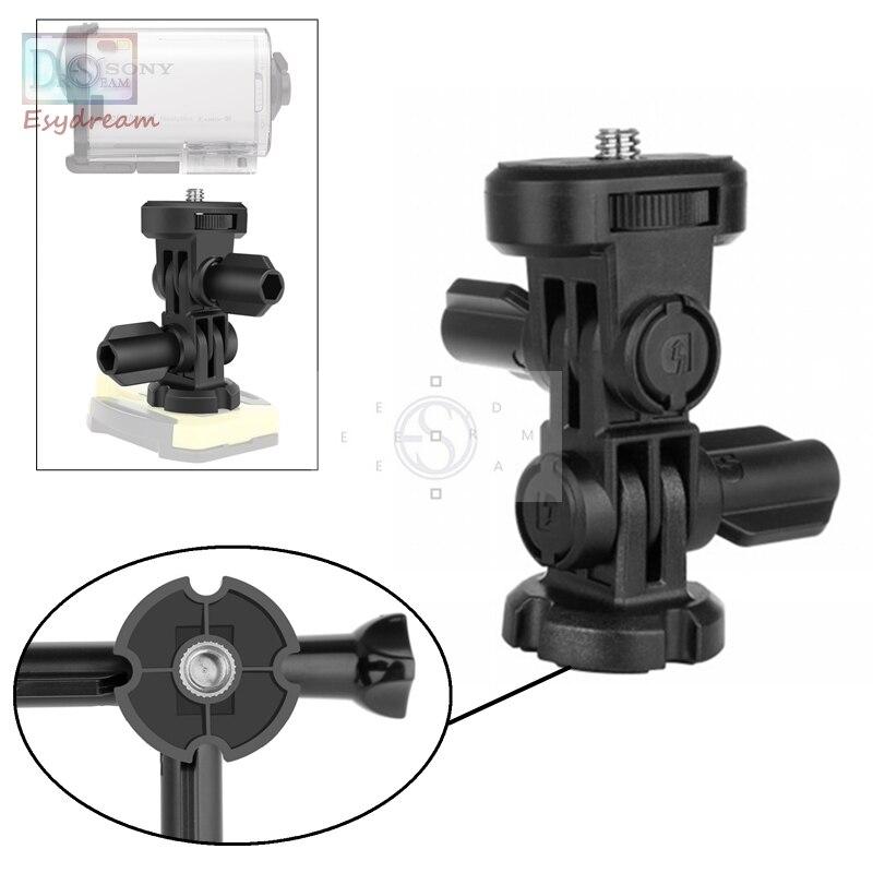 3-forma 1/4 tornillo adaptador de montaje del trípode accesorios para Sony Cámara de Acción AS20 AS30V AS100V AS200V HDR AZ1 Xiaoyi como VCT-AMK1