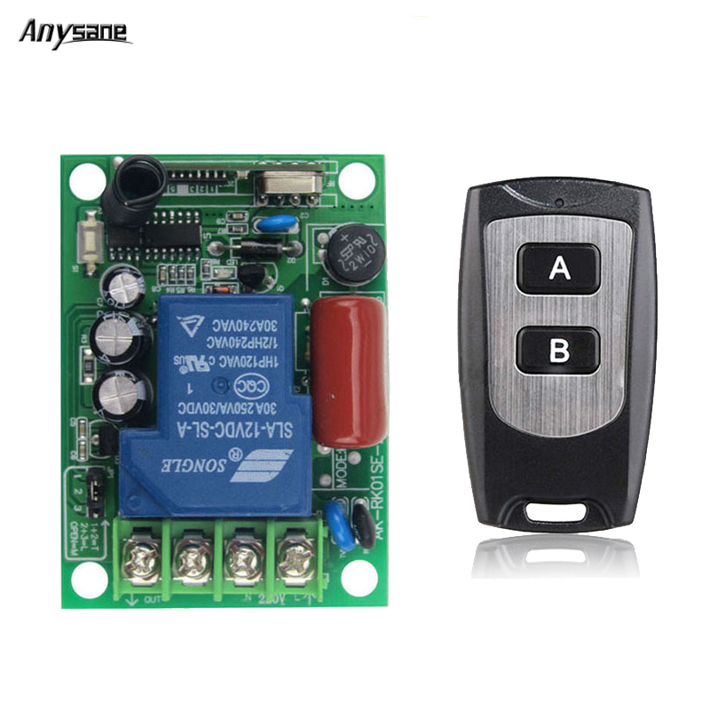 Anysane wireless remote control 30A AC85-250V 3 kinds work way rf 433/315 Mhz receiver and transmitter for ON OFF push control wireless pager system 433 92mhz wireless restaurant table buzzer with monitor and watch receiver 3 display 42 call button