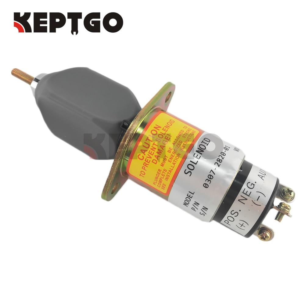 Free Shipping - 24V Fuel Shutoff Stop Solenoid Valve For Onan Cummins Generator 0307-2820-01 307-2820 03072820