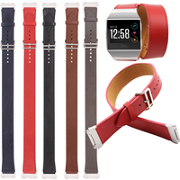 For Fitbit Ionic Bands Long Leather Accessories Leather Bands Double Tour Strap For Fitbit Ionic 5