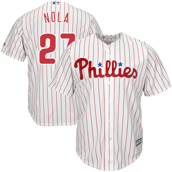 MLB Youth Philadelphia Phillies Aaron Nola Baseball White Home Cool Base Player Jersey