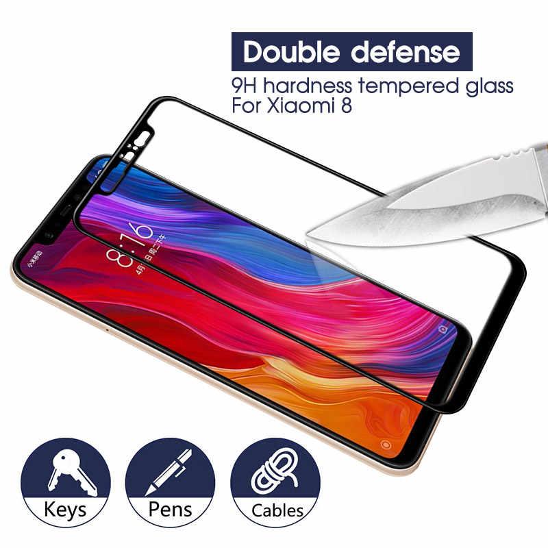 Protecteur d'écran complet 9D pour Xiao mi mi 8 A2 Lite 6X A1 5X sur Redm 5 Plus Note 5 6 7 Pro Film résistant aux rayures en verre trempé
