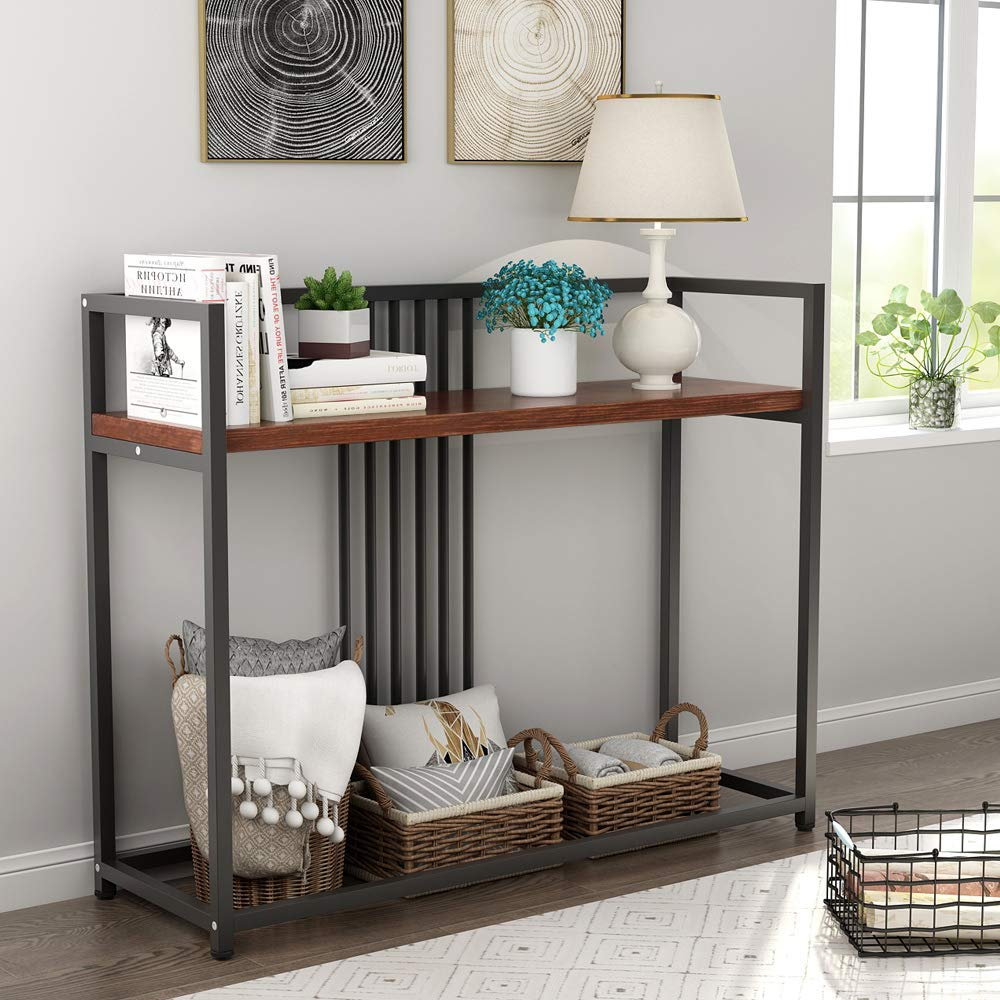 Modern Console Table Solid Wood Sofa