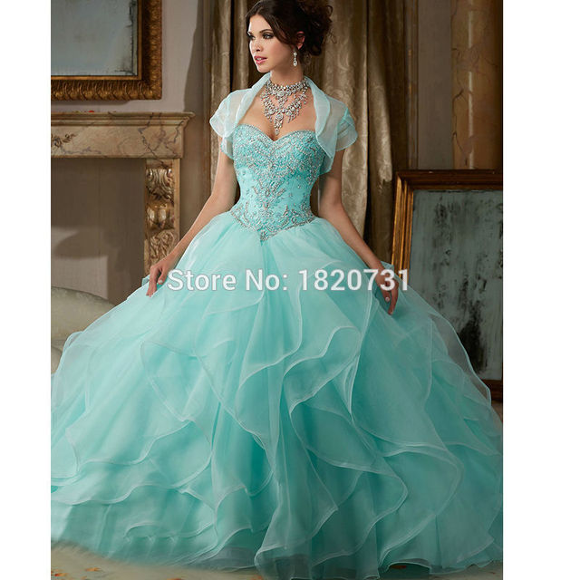 2bcf638402 2019 Sweet 15 Year Coral Quinceanera Dresses Off The Shoulder Ball Gown  Organza Beaded Sequin Lace Up Cheap Birthday Party Dress