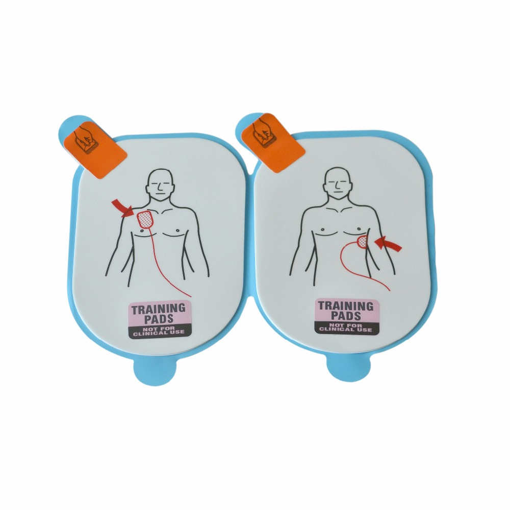 New 1 Pair AED Trainer Electrode Pads Adult AED Patches For Lifeline AED Training Machine Rescue Defibrilator 10pairs pack aed training electrode for kid defibrillation connecting with aed trainer