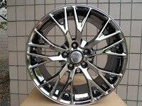 19 20 Inch 5x120 7 Black Chrome Wheel Rims W591