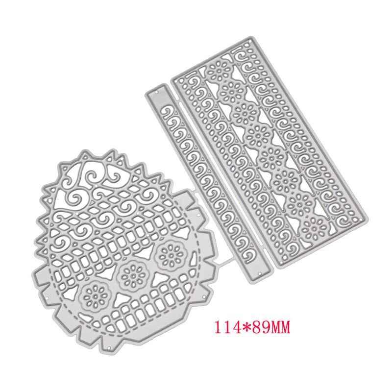 פרח סל מתכת חיתוך מת סטנסיל DIY רעיונות גלרית חותמת נייר כרטיס הבלטות קרפט דקור W229