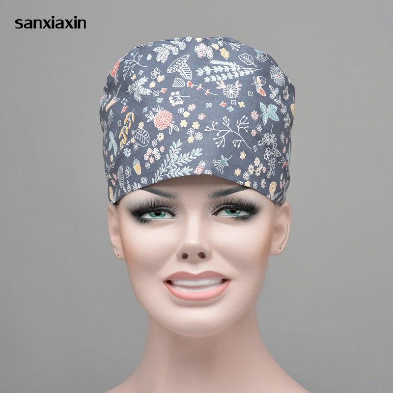 Sanxiaxin Adjustable Cap Pharmacy Dentist Pet Doctor Hats Lab Nurse Uniform Nurse Medical Women Scrubs Mickey Hat Surgical Cap