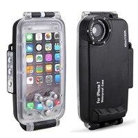 Eachshort Meikon EasyDive 40 m/130ft Wasserdicht Unterwasser Gehäuse Fall für iPhone 7-Schwarz Weiß