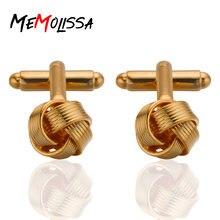 Золотые запонки memolissa в деловом стиле для мужчин