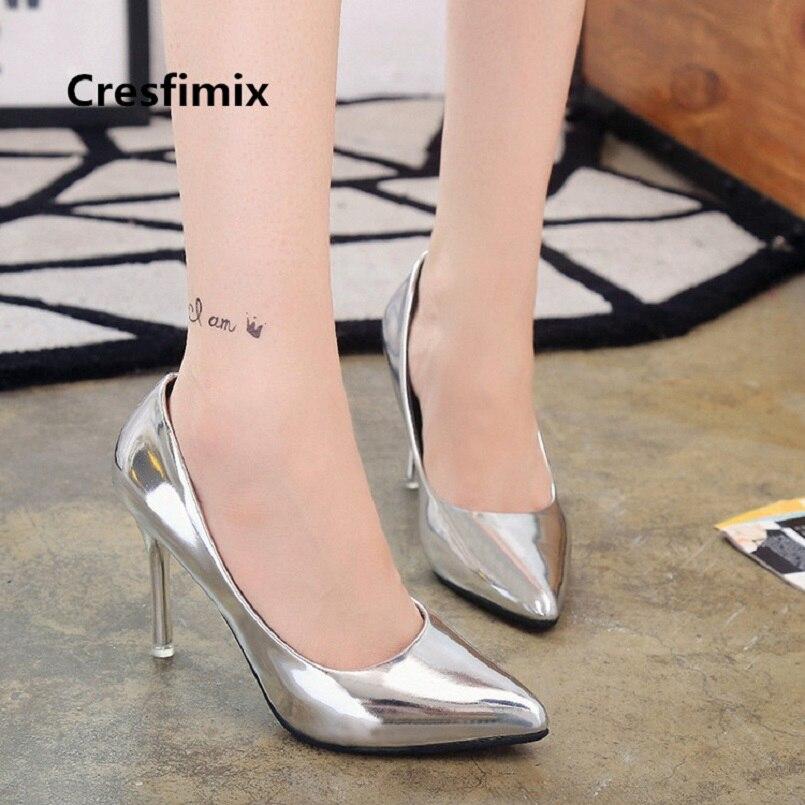 Hauts Vrouwen Casual Qualité Sur Mode Hoge Pu Femmes Talon Cresfimix Glissement B3418 Chaussures Haute Hakken Lady Talons Cuir b À A Pompes En CgqwxZKTd