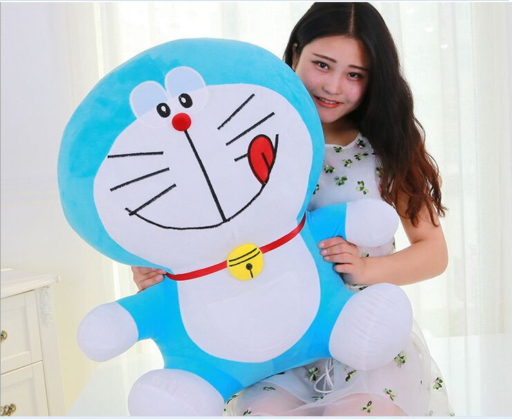 big plush lovely doraemon toy stuffed lovely naughty doraemon doll perfect gift about 70cm the huge lovely hippo toy plush doll cartoon hippo doll gift toy about 160cm pink