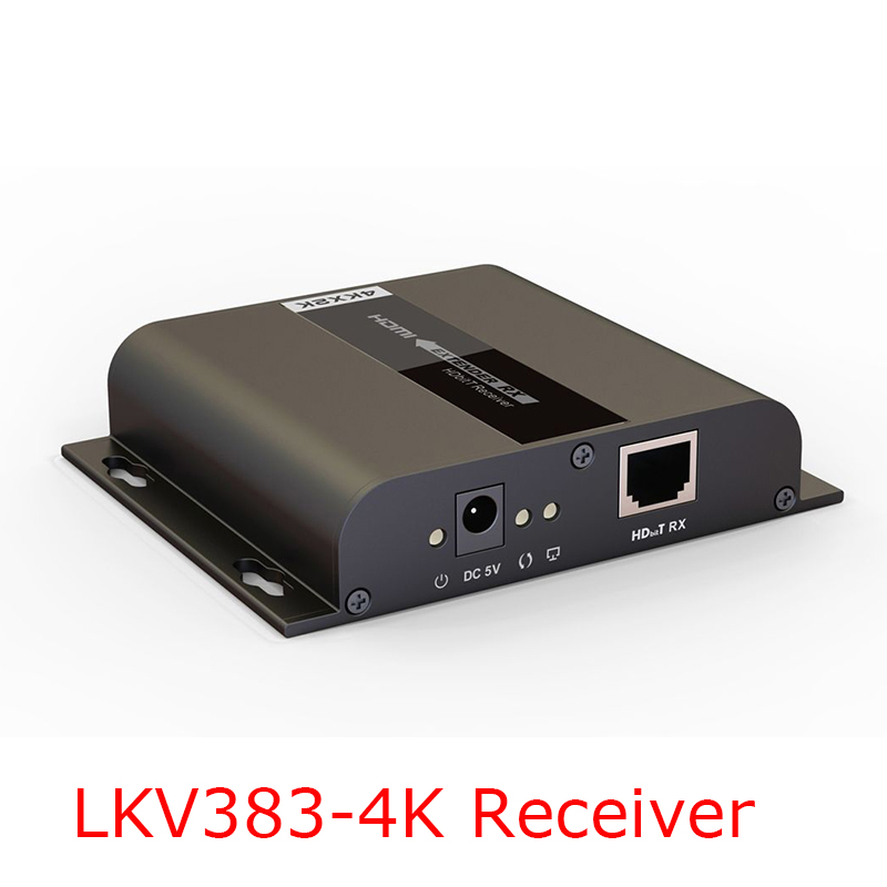 Only Receiver! LKV383-4K Up to 120m, 4K*2K HDbitT HDMI Extender LAN Repeater over CAT5/5e/6 with IR Transmits HDMI V1.4 HDCP